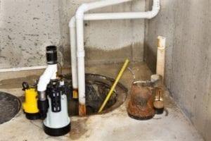 Water sump pump backups