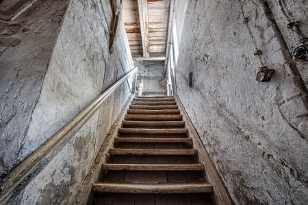 Old Staircase Leading into Basement