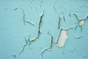 lead paint on wall chipping