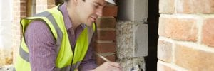 home inspector testing for indoor air quality